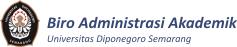 Biro Administrasi Akademik Universitas Diponegoro Semarang